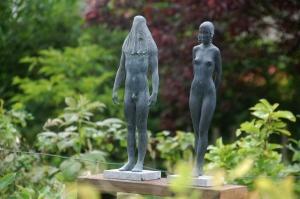Parcours D'artistes 2012,Mme Dominique Crickx,Isabelle Stienon,Sculpteur