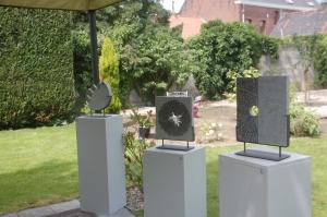 parcours d'artistes,stambruges,Delguste,Bernard Larivière,sculpteur
