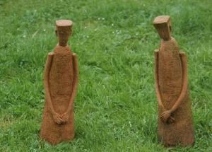 Parcours D'artistes 2012,Mr et Mme Reinold Leplat,Raymond Delor,sculpteur