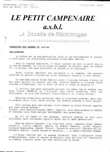 Le petit Campenaire, Stambruges,Gazette,journal