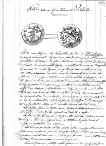 Vol I page 111 à 112 Notice sur un jeton trouvé à Beloeil-page-001.jpg